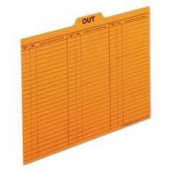 PFX2051 - Pendaflex® Salmon Colored Charge-Out Guides