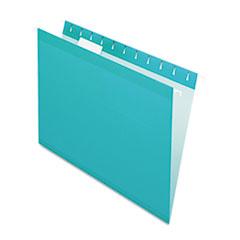 PFX415215AQU - Pendaflex® Colored Reinforced Hanging File Folders