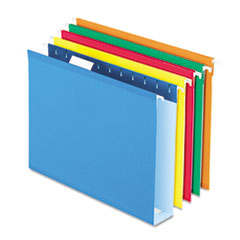 PFX4152X2ASST - Pendaflex® Extra Capacity Reinforced Hanging File Folders with Box Bottom