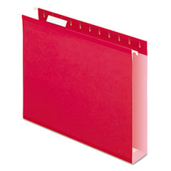 PFX4152X2RED - Pendaflex® Extra Capacity Reinforced Hanging File Folders with Box Bottom