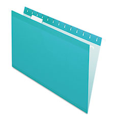 PFX415315AQU - Pendaflex® Colored Reinforced Hanging File Folders