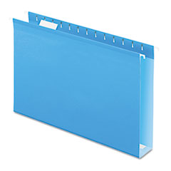 PFX4153X2BLU - Pendaflex® Extra Capacity Reinforced Hanging File Folders with Box Bottom