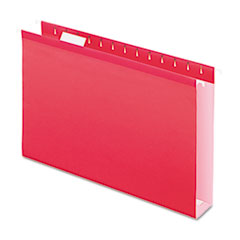 PFX4153X2RED - Pendaflex® Extra Capacity Reinforced Hanging File Folders with Box Bottom