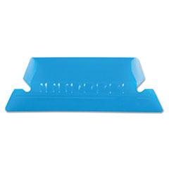 PFX42BLU - Pendaflex® Transparent Colored Tabs For Hanging File Folders