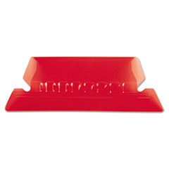 PFX42RED - Pendaflex® Transparent Colored Tabs For Hanging File Folders