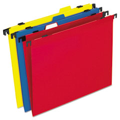 PFX99917 - Pendaflex® 2-in-1 Colored Poly Folders with Built-in Tabs