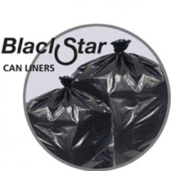 PITB73310K - Black Star Low-Density Can Liners