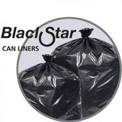 PITB73720K - Black Star Low-Density Can Liners