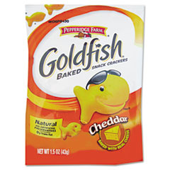 PPF13539 - Goldfish® Cheddar Cheese Crackers, Single Serving Snack Packs