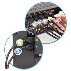PRBDCI131HEKC - Dotz Cord Identifier Kit, Clear, 12 Regular/12 Jumbo, With Inserts/Stickers