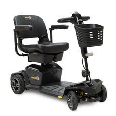 PRDJAZZY_ZT_BLACK - Pride Mobility - Jazzy Zero Turn 4-Wheel Scooter, Onyx Black, FDA Class II Medical Device