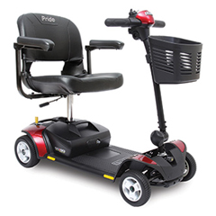 PRDSC44E - Pride Mobility - Go-Go Elite Traveler 4-Wheel Mobility Scooter with 12AH Battery, FDA Class II Medical Device