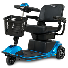PRDS66-BLUE - Pride Mobility - Revo 2.0 3-Wheel Mobility Scooter, Blue, FDA Class II Medical Device
