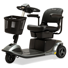 PRDS66-GREY - Pride Mobility - Revo 2.0 3-Wheel Mobility Scooter, Grey, FDA Class II Medical Device