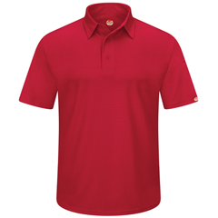 UNFSK90RD-SS-6XL - Red KapMens Workwear Polo Shirt