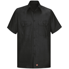 UNFSY60BK-SSL-L - Red KapMens Short Sleeve Ripstop Shirt