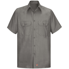 UNFSY60GY-SS-L - Red KapMens Short Sleeve Ripstop Shirt
