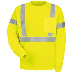 UNFSYK2HV-RG-S - Red KapMens Hi-Vis T-Shirt