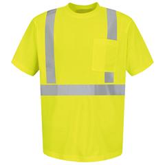 UNFSYK6HV-SS-S - Red KapMens Hi-Vis T-Shirt