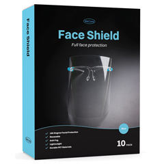 PTCWMN100015 - WeCare - Face Shield Blue Eyeglasses Frame - Full Face Protection