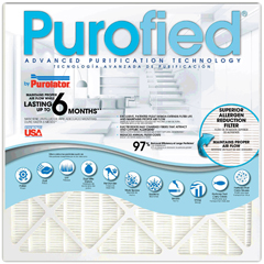 PUR5037972189 - PurolatorPurofied 6-Month 16 x 20 x 1, MERV Rating : 12