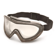 PYRG504DT - Pyramex Safety ProductsCapstone® Gray Direct/Indirect Goggle with Clear Anti-Fog Dual Lens