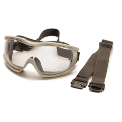 PYRG604T2 - Pyramex Safety ProductsCapstone® Gray Chemical Splash Goggle with Clear Anti-Fog Lens