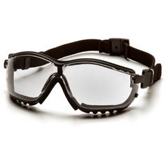 PYRGB1810ST - Pyramex Safety ProductsV2G® Eyewear Clear Anti-Fog Lens with Black Strap/Temples