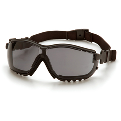 PYRGB1820ST - Pyramex Safety ProductsV2G® Eyewear Gray Anti-Fog Lens with Black Strap/Temples