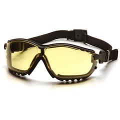 PYRGB1830ST - Pyramex Safety ProductsV2G® Eyewear Amber Anti-Fog Lens with Black Strap/Temples