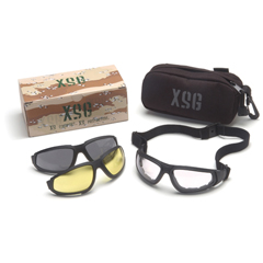 PYRGB4010KIT - Pyramex Safety ProductsXSG KIT™ Eyewear With Clear, Gray, & Amber Ballistic Lenses