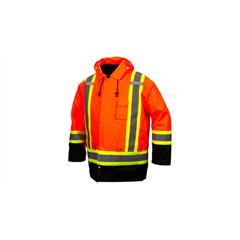 PYRRC7P3520X4 - Pyramex Safety Products - 7-In-1 Parka In Orange - 4X Large