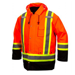 PYRRC7P3520XL - Pyramex Safety Products - 7-In-1 Parka In Orange - Extra Large