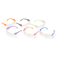 PYRS4110SMP - Pyramex Safety ProductsIntruder® Eyewear Multi Pack Clear Lens with Asssorted Temple Colors