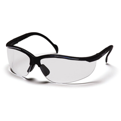 PYRSB1810ST - Pyramex Safety ProductsVenture II® Eyewear Clear Anti-Fog Lens with Black Frame