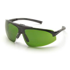PYRSB4960PR15 - Pyramex Safety ProductsOnix Plus Readers™ Eyewear Clear +1.5 Anti-Fog Lens/3.0 IR Flip Lens with Black Frame