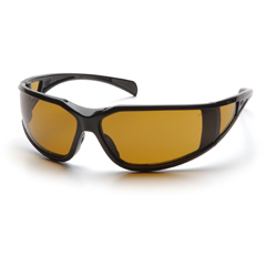 PYRSB5133DT - Pyramex Safety Products - Exeter® Eyewear Shooters Amber Anti-Fog Lens with Black Frame