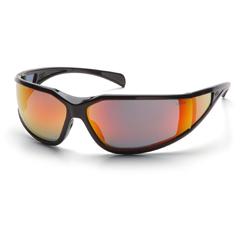 PYRSB5155DT - Pyramex Safety ProductsExeter® Eyewear Sky Red Mirror Anti-Fog Lens with Black Frame