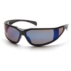 PYRSB5175DT - Pyramex Safety ProductsExeter® Eyewear Blue Mirror Anti-Fog Lens with Black Frame
