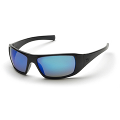 PYRSB5665D - Pyramex Safety ProductsGoliath® Eyewear Ice Blue Mirror Lens with Black Frame