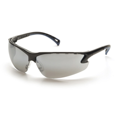 PYRSB5770D - Pyramex Safety ProductsVenture 3™ Eyewear Silver Mirror Lens with Black Frame