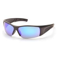 PYRSB6965D - Pyramex Safety ProductsPMXTORQ™ Eyewear Ice Blue Mirror Lens with Black Temples
