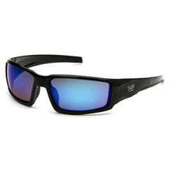 PYRVGSB565T - Pyramex Safety ProductsPagosa Eyewear Ice Blue Mirror Anti-Fog Lens with Black Frame
