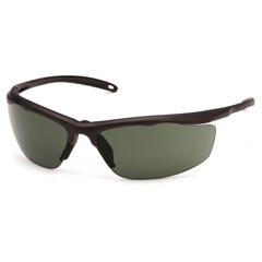 PYRVGSBR222T - Pyramex Safety ProductsZumbro Eyewear Smoke Green Anti-Fog Lens with Black Frame
