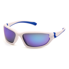 PYRVGSW165T - Pyramex Safety ProductsOcoee Eyewear Ice Blue Mirror Anti-Fog Lens with White Frame