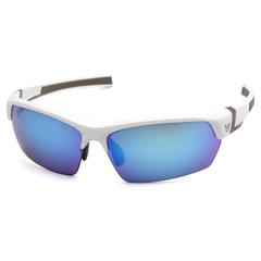PYRVGSW365T - Pyramex Safety ProductsTensaw Eyewear Ice Blue Mirror Anti-Fog Lens with White Frame