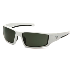 PYRVGSW522T - Pyramex Safety ProductsPagose Eyewear Smoke Green Anti-Fog Lens with White Frame