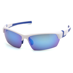 PYRVGSWB365T - Pyramex Safety ProductsTensaw Eyewear Ice Blue Mirror Anti-Fog Lens with White Frame