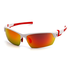 PYRVGSWR355T - Pyramex Safety ProductsTensaw Eyewear Sky Red Mirror Anti-Fog Lens with White Frame