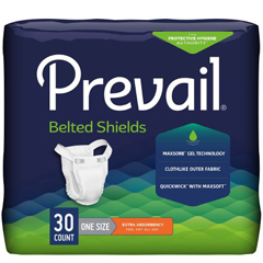 MON32403120 - First QualityPrevail® Belted Shields - Extra Absorbency, 120/CS